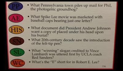 What document did President Andrew Johnson want a copy of placed under his head upon his burial?