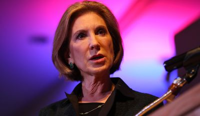 """The secret sauce of America is innovation and entrepreneurship,"" former Hewlett-Packard CEO Carly Fiorina said at the GOP debate at the Milwaukee Theater. (Associated Press)"