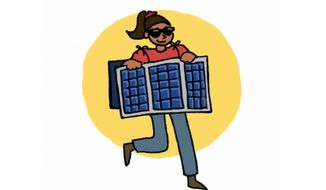 "The Department of Energy is urging children to dress up as solar panels and wind turbines for Halloween in a green initiative it's dubbing ""Energyween."" (Department of Energy)"