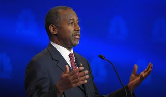 Republican presidential candidate, retired neurosurgeon Ben Carson speaks during the CNBC Republican presidential debate at the University of Colorado, Wednesday, Oct. 28, 2015, in Boulder, Colo. (AP Photo/Mark J. Terrill)