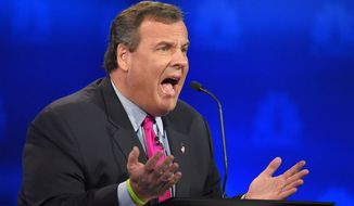 Chris Christie speaks during the CNBC Republican presidential debate at the University of Colorado, Wednesday, Oct. 28, 2015, in Boulder, Colo. (AP Photo/Mark J. Terrill)
