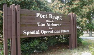 A soldier dressed as a suicide bomber for Halloween caused an emergency response at Fort Bragg Friday night. (Wikipedia)