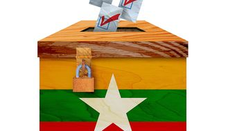 Free Elections in Myanmar Illustration by Greg Groesch/The Washington Times
