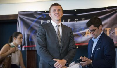 """Project Veritas president James O'Keefe, known for his undercover video operations against ACORN and the National Public Radio, said the videos showed that the willingness to cut up the Constitution was """"not an isolated incident."""" (Associated Press)"""