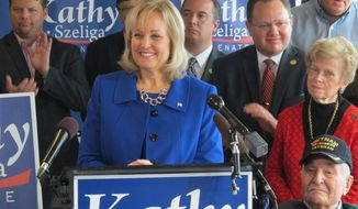Maryland state House Minority Whip Kathy Szeliga sailed to victory with 86,942 votes, or 35 percent, in a crowded field of more than a dozen Republicans running for the U.S. Senate. (Associated Press)