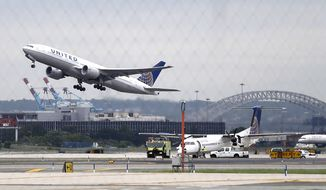 United already holds 902 out of the 1,233 slots (73 percent) available at Newark Liberty International Airport, according to a lawsuit filed in U.S. District Court for the District of New Jersey. (Associated Press/File)
