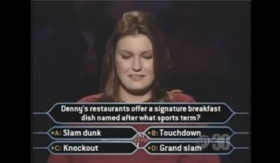 Denny's restaurants offer a signature breakfast dish named after what sports term?