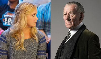 """Amy Schumer stars in """"Trainwreck: Unrated"""" and Ian McKellen plays the title role in """"Mr. Holmes"""" now available on Blu-ray."""