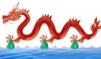 Illustration on China's aggressive moves in the South China Sea by Greg Groesch/The Washington Times