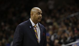 FILE PHOTO: Georgetown head coach John Thompson III in action during an NCAA college basketball game against Villanova, Saturday, Feb. 7, 2015, in Philadelphia. (AP Photo/Matt Slocum)