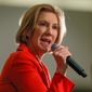 Carly Fiorina's September surge was fueled by a boost in moderate conservatives, liberal Republicans and some white evangelicals, but now she has dropped back to low single digits among those groups. (Associated Press)