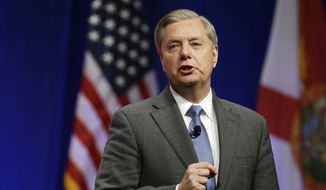 Sen. Lindsey Graham, R-S.C., addresses the Sunshine Summit in Orlando, Fla., Friday Nov. 13, 2015. (AP Photo/John Raoux) ** FILE **
