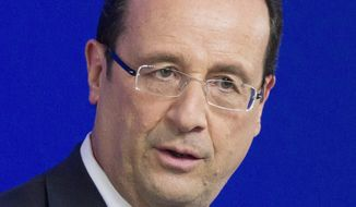 French President Francois Hollande. (Associated Press)