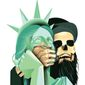 Illustration on the clash of civilizations by Linas Garsys/The Washington Times