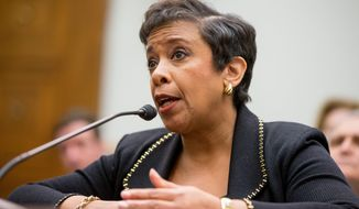 """With respect to individuals being transferred to the United States, the law currently does not allow for that and that, as far as I'm aware of, is not going to be contemplated given the legal proscriptions,"" Attorney General Loretta Lynch said. (Associated Press)"