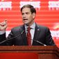 Sen. Marco Rubio of Florida became the first Republican presidential candidate Tuesday to sign on as a co-sponsor of legislation to renew the Zadroga Act. (Associated Press)