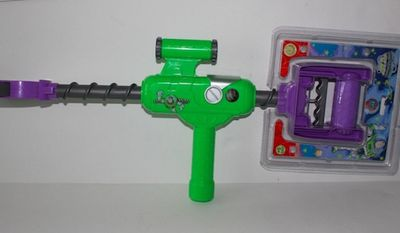 """TSA agents at Fort Lauderdale confiscated a 5-year-old's Buzz Lightyear """"Flip Grip"""" toy because it looked too much like a weapon. (Image: Ebay)"""