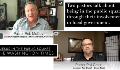 Pastors Rob McCoy and Phil Green talk about serving in the community through elected office.