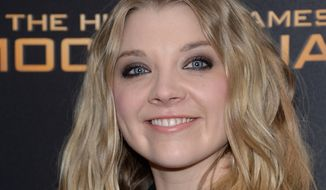 """Natalie Dormer attends a special screening of """"The Hunger Games: Mockingjay Part 2"""" at the AMC Loews Lincoln Square on Wednesday, Nov. 18, 2015, in New York. (Photo by Evan Agostini/Invision/AP)"""