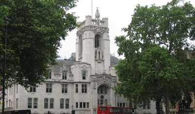 The Middlesex Guildhall in London, location of the Supreme Court (Wikipedia)