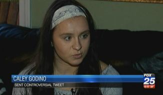 Caley Godino, a Massachusetts high school cheerleading captain and Donald Trump fan, is being forced to sit out the rest of the season because of a tweet she sent out about illegal immigrants. (My Fox Boston)