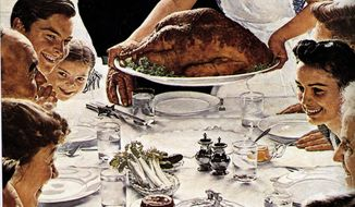 """Freedom From Want"" by Norman Rockwell          Associated Press photo"