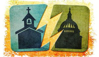 Separation of Church and State Illustration by Greg Groesch/The Washington Times