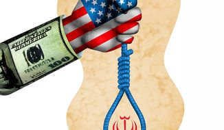 U.S.-Iran Policy Paradox Illustration by Greg Groesch/The Washington Times