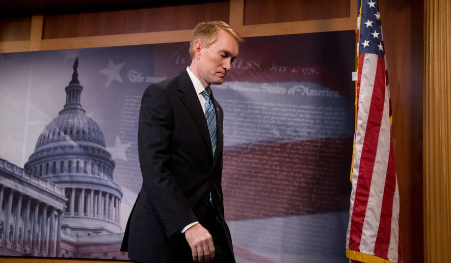 """Sen. James Lankford, Oklahoma Republican, is releasing """"Federal Fumbles,"""" a report that compiles some of the questionable and ridiculous projects on which the government has chosen to spend taxpayers' money. (Associated Press)"""