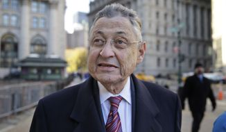 Former New York Assembly Speaker Sheldon Silver arrives to the courthouse in New York, Monday, Nov. 30, 2015. Silver, a Manhattan Democrat who led the Assembly for 20 years, is accused of taking more than $4 million in bribes and kickbacks. (AP Photo/Seth Wenig)