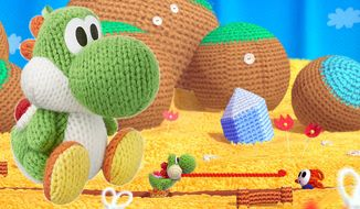 Gift ideas for Wii U owners includes Yoshi's Woolly World with a green Yoshi Amiibo.