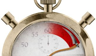 The Stopwatch of Death Illustration by Greg Groesch/The Washington Times