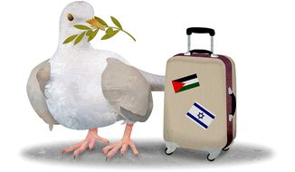 Frustrated Dove Departs Middle East Illustration by Greg Groesch/The Washington Times