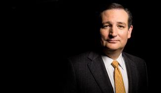 Republican presidential candidate Sen. Ted Cruz, R-Texas, poses for a portrait following an interview with The Associated Press in Washington, Tuesday, Dec. 1, 2015. (AP Photo/Andrew Harnik)