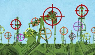 Targeting Affordable American Energy Illustration by Greg Groesch/The Washington Times