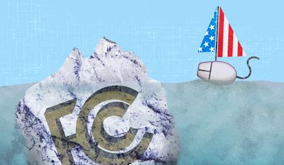 The FCC's Iceberg of Internet Regulations Illustration by Greg Groesch/The Washington Times