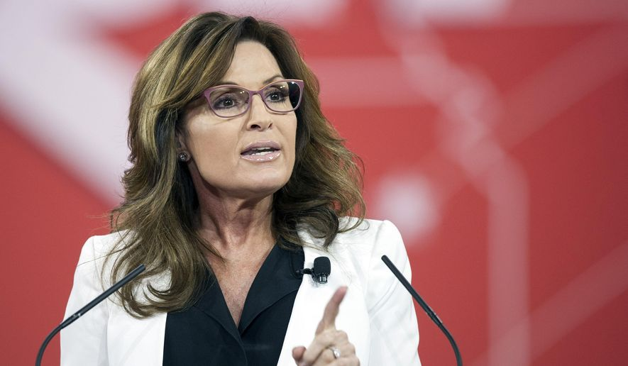 Former Alaska Gov. Sarah Palin speaks during the Conservative Political Action Conference (CPAC) in National Harbor, Md., in this Feb. 26, 2015, file photo. (AP Photo/Cliff Owen, File)