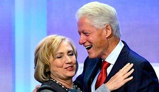 Democratic presidential front-runner Hillary Clinton may have an asset or liability in her husband, former President Bill Clinton. (Associated Press)