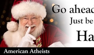 """An atheist nonprofit is erecting billboards advising children to """"go ahead and skip church"""" this Christmas. (atheists.org)"""