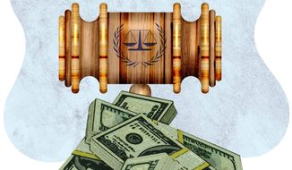 The Over-funding of the International Criminal Court Illustration by Greg Groesch/The Washington Times