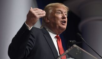 Republican presidential candidate Donald Trump's notion of closing the U.S. off to Muslims seeking asylum, partly as a means of heading off Islamic State terror operatives, drew rebukes not only from the GOP but from world leaders. (Associated Press)