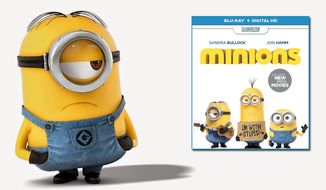 "Stuart co-stars in the animated film ""Minions"" now available on Blu-ray from Universal Studios Home Entertainment."