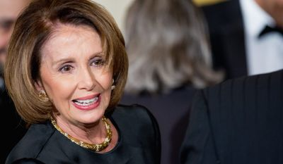 House Minority Leader Nancy Pelosi of California said Democrats will not let a spending bill leave the House that has rider banning research on gun violence.