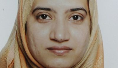 This undated file photo, provided by the FBI shows Tashfeen Malik. A religious conservative who lived previously in Pakistan and Saudi Arabia, Malik joined her American-born husband of less than two years, Syed Farook, on Dec. 2, 2015, in donning tactical gear, grabbing assault weapons and slaughtering 14 people at his office holiday party in Southern California. (FBI via AP, File)