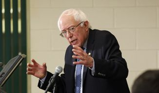 Democratic presidential candidate Sen. Bernie Sanders, I-Vt, speaks to students during a campaign stop at the Community College, Monday, Dec. 14, 2015, in Nashua, N.H. (AP Photo/Jim Cole) ** FILE **