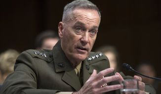 After two months as chairman of the Joint Chiefs of Staff, Marine Corps Gen. Joseph Dunford provided the first detailed look at his agenda as the chief military adviser to the president. (Associated Press)