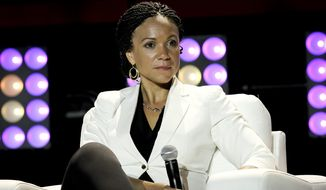 Melissa Harris-Perry attends the second day of the 2014 Essence Music Festival Concert at the Ernest N. Morial Convention Center in New Orleans on July 4, 2014. (Donald Traill/Invision/Associated Press) **FILE**