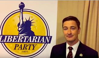 Libertarian National Committee Chairman Nicholas Sarwark. (Libertarian Party) ** FILE **