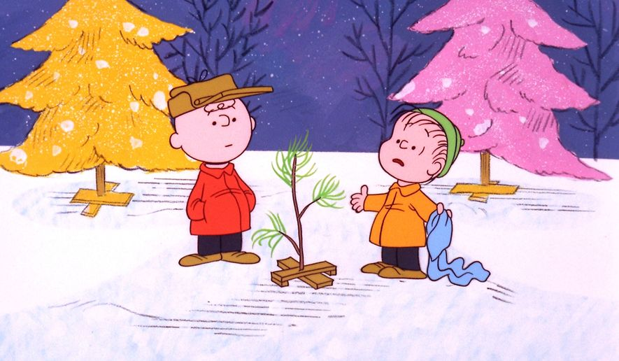 "Charlie Brown and Linus appear in a scene from ""A Charlie Brown Christmas,"" which was created by late cartoonist Charles M. Schulz in 1965. (Associated Press)"
