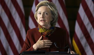 Hillary Clinton called on Silicon Valley to assist counterterrorism measures by better policing their networks and sharing those best practices. She also called on the creation of a unified national strategy to deny terrorists virtual territory online. (Associated Press)